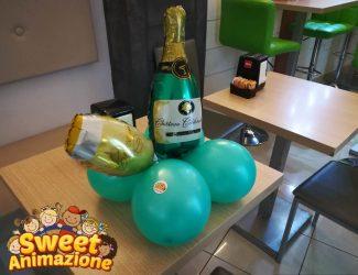 palloncini bottiglia e bicchiere palloncini