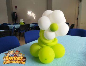 palloncino fiore centro tavolo