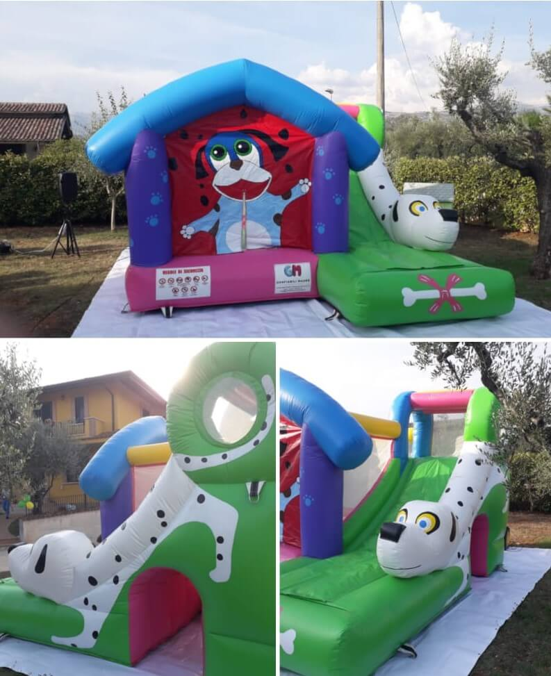 noleggio gioco gonfiabile cucciolandia in pvc in Molise, Lazio, Abruzzo, Campania e Puglia